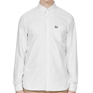 Fred Perry M3551 Classic Oxford L/S Shirt White