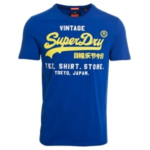 Superdry Shirt Shop Duo Lite T-Shirt Electric Blue