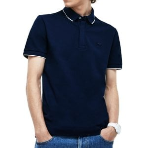 Lacoste PH1282 Piped Stretch Polo Navy