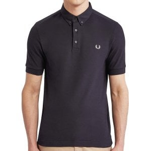 Fred Perry M4541 Oxford Trim Pique Polo Navy