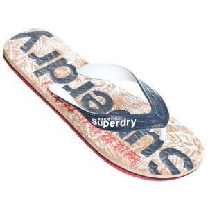Superdry Printed Cork Flip Flops Navy/Red