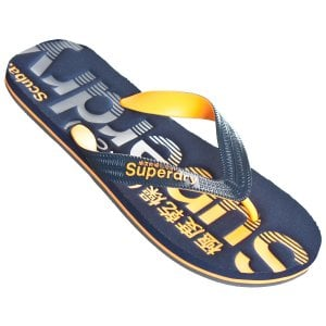 Superdry Scuba Faded Logo Flip Flops Dark Navy/Orange