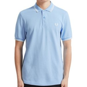Fred Perry M3600 Twin Tipped Polo Summer Blue