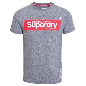 Superdry Speed Box T-Shirt Grey Grit