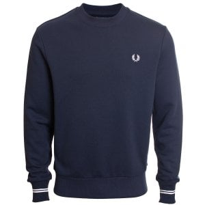 Fred Perry M7535 Crew Sweatshirt Navy