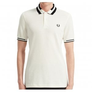 Fred Perry M7503 Block Tipped Polo Snow White