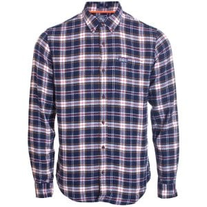 Superdry Workwear L/S Shirt Navy Check