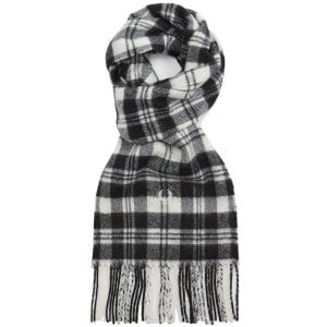 Fred Perry C7146 Mod Scott Tartan Scarf Black