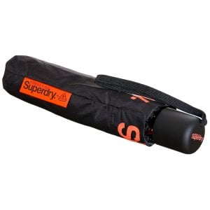 Superdry SD Minilite Umbrella Black/Orange
