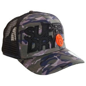 Superdry Lineman Trucker Cap Black Camo