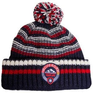 Superdry Woodruff Beanie Downhill Navy Twist