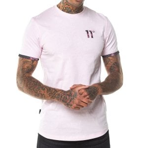 11 Degrees Logo T-Shirt Powder Pink/Floral