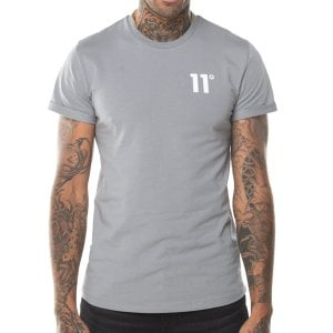 11 Degrees Core Muscle Fit T-Shirt Silver
