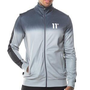 11 Degrees Dot Fade Panelled Poly Track Top Anthracite/Silver