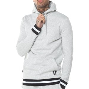 11 Degrees Apollo Quarter Zip Hoodie Tornado Marl