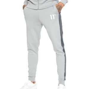 11 Degrees Panelled Poly Track Pants Anthracite/Silver