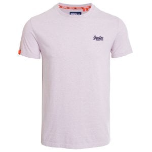 Superdry OL Vintage Embroidery T-Shirt Chalk Pink Feeder