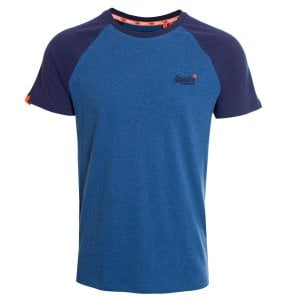 Superdry OL Classic Baseball T-Shirt Rich Blue Marl