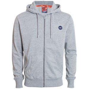 Superdry Collective Zip Hoodie Grey Marl