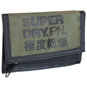 Superdry Tri-Fold Polyester Wallet Chive