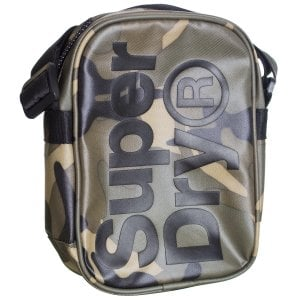 Superdry Tarp Side Bag Green Camo