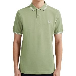 Fred Perry M3600 Twin Tipped Polo Light Sage