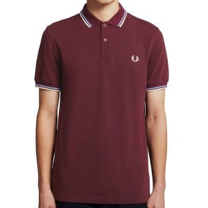 Fred Perry M3600 Twin Tipped Polo Mahogany