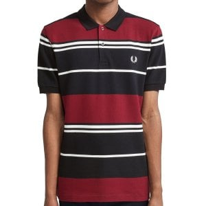Fred Perry M8537 Stripe Polo Black