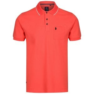 Luke 1977 Brilliant News Polo Warm Coral