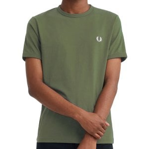 Fred Perry M3519 Ringer T-Shirt Military Green