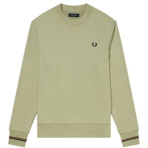 Fred Perry M7535 Crew Sweatshirt Light Sage