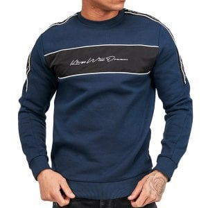 Kings Will Dream Noston Fleece Sweatshirt Navy/Black