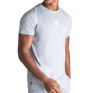 Gym King Origin Fitted T-Shirt Grey Marl