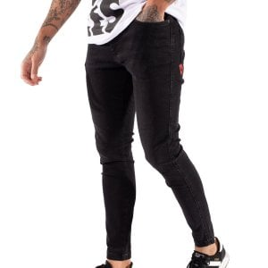 11 Degrees Stretch Skinny Fit Jeans Black Wash
