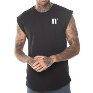11 Degrees Core Cut Off Sleeves T-Shirt Black