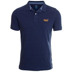 Superdry Classic Pique Polo Mid Oasis Marl