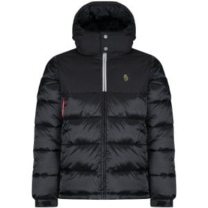 Luke 1977 Hodges Railings Hooded Bubble Jacket Black