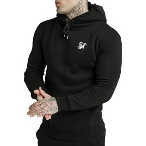 SikSilk Muscle Fit Overhead Hoodie Black