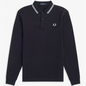 Fred Perry M3636 Twin Tipped L/S Polo Navy/White/Ice
