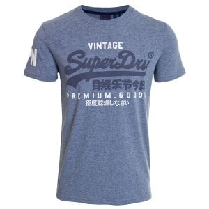 Superdry VL NS T-Shirt Tois Blue Heather
