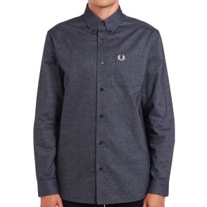 Fred Perry M9605 Brushed Oxford L/S Shirt Black