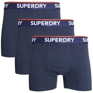 Superdry Classic Boxer Triple Pack Richest Navy