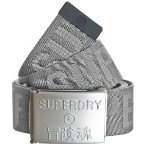 Superdry Montauk Fabric Belt Grey