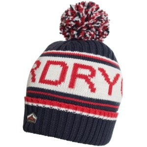 Superdry Logo Beanie Downhill Navy