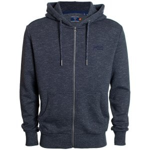 Superdry OL Classic Zip Hoodie Eclipse Navy Feeder