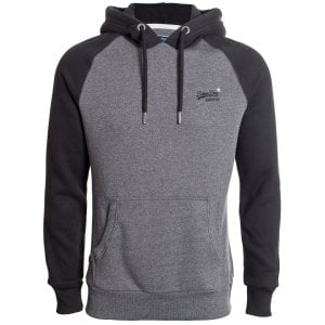 Superdry OL Classic Raglan Hoodie Low Light Black Grit