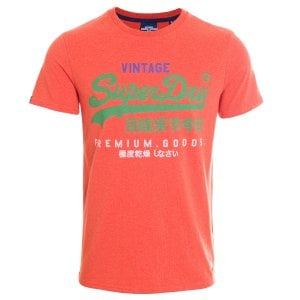 Superdry VL Tri T-Shirt Bright Orange Marl