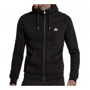 Bee Inspired Signature Zip Hoodie Blac