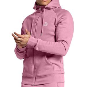 Bee Inspired Signature Zip Hoodie Mauve